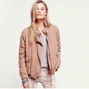 Free People Oversized Double Cloth Linen Jacket